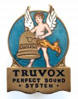 TRUVOX Perfect Sound System advertising badge loudspeakers and acoustic devices