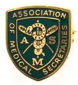 Association of Medical Secretaries union badge