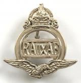 Royal Auxiliary Air Force RAuxAF silver pin badge c1947 to 1953