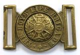 Boys Life Brigade belt buckle BLB badge circa 1899 to 1926
