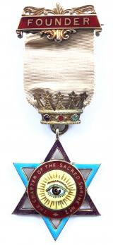 Royal Arch Masonic Founder Jewel Chapter of the Sacred Shrine No 2