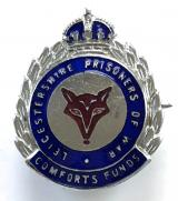 WW2 Leicestershire prisoners of war comforts fund badge