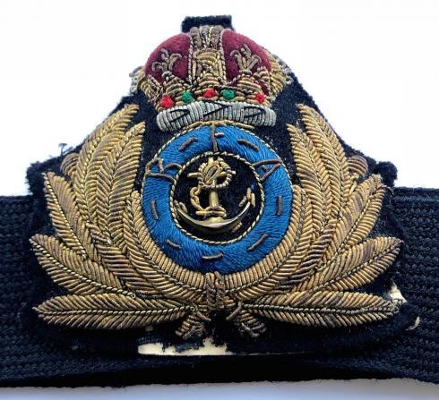 HMS EXAMPLE SHIPS CREST PRINTED ON A BASEBALL CAP ROYAL NAVY.
