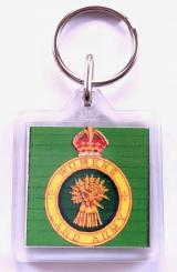Womens Land Army WLA novelty key ring badge