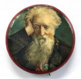 Salvation Army William Booth portrait celluloid tin button badge