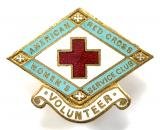 American Red Cross women's service club volunteer badge Great Britain
