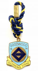 1974 Goodwood Racecourse horse racing club badge