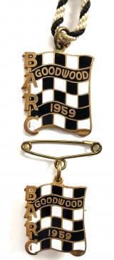 British Automobile Racing Club BARC Goodwood 1959 pair of badges