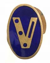 WW2 Churchills V For Victory morse code home front badge
