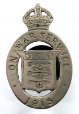WW1 On War Service 1915 munition workers nickel plated badge