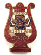 Salvation Army Band Reserve enamel lyre badge