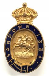 1884 Sandown Park Racecourse horse racing club badge