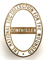 The National Egg Collection for the Wounded Controller charity badge