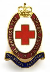 British Red Cross Society Divisional President badge