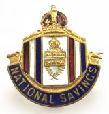 National Savings Movement lady local volunteer collector badge