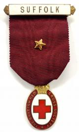 British Red Cross Society Honorary Vice President Suffolk medal