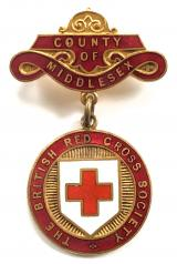 British Red Cross Society County of Middlesex badge