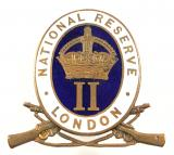 WW1 National Reserve Class II London badge
