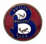 Butlins Holiday Camp Beavers Club badge by Firmin