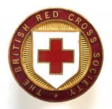 British Red Cross Society outdoor peak less storm cap badge