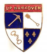 Up Narkover Will Hay film and stage comedian badge c1935