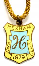 1979 Hexham Park horse racing club badge