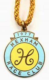 1977 Hexham Park horse racing club badge