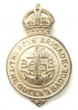 Boys Brigade Queens badge HOOK ABSENT