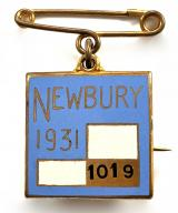 1931 Newbury Racecourse horse racing club badge