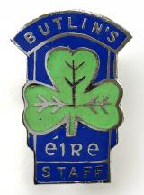 Butlins Mosney holiday camp Ireland numbered staff badge