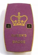 Boys Brigade The Queens Badge 1968 to 1984 enamel award