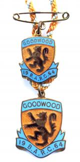British Automobile Racing Club BARC Goodwood 1964 badges