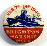 WW2 Brighton Warship Week 1942 fundraising badge