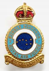 RAF No 7 Pathfinder Squadron Royal Air Force badge c1940s