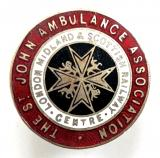 St John Ambulance London Midland Scottish Railway badge