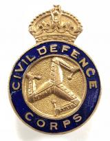 Isle of Man Civil Defence Corps badge circa 1949 - 1952