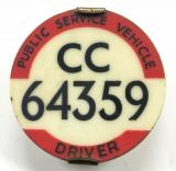 PSV Bus Driver North Western licensing badge