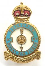 RAF No 97 Pathfinder Squadron Royal Air Force Badge c1940s