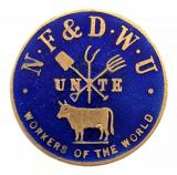 National Farming & Dairy Worker's Union NF&DWU badge 1914 to 1918