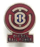 British United Traction Diesel Rail Power railway lapel badge