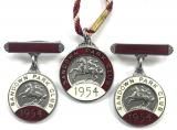 1954 Sandown Park Racecourse horse racing club set of three badges