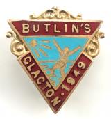 Butlins 1949 Clacton holiday camp girl in sun badge
