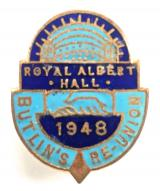 Butlins 1948 Royal Albert Hall re-union badge