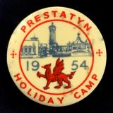Prestatyn Holiday Camp 1954 Welsh Dragon celluloid tin button badge