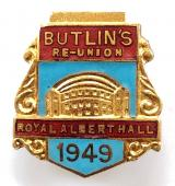 Butlins 1949 Royal Albert Hall re-union badge