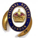 WW1 National Reserve London MINIATURE lapel badge