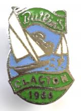 Butlins 1955 Clacton holiday camp sailing boat badge