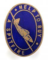 HELP TO BUY A SPITFIRE wartime fundraising badge