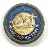 WW2 Wings For Victory Spitfire fundraising badge