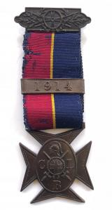 WW1 Church Lads Brigade bronze service medal with 1914 clasp